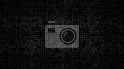 Fototapete Abstrakter dunkler Hintergrund von kleinen Quadraten oder von Pixeln in den Schatten von schwarzen und grauen Farben.
