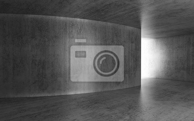 Abstrakter Dunkler Raum Mit Glühender Tür 3 D Fototapete