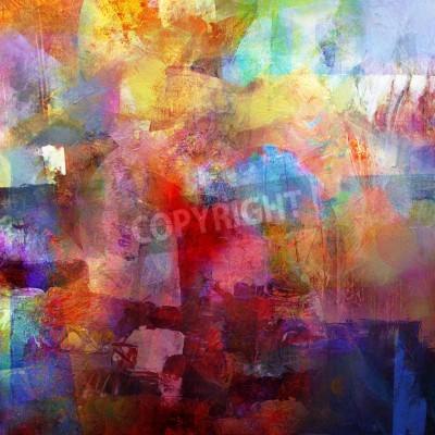 Fototapete abstrakter gemalter Hintergrund - geschaffen durch die Kombination verschiedener Lackschichten