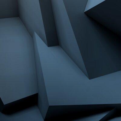 Fototapete Abstrakter geometrischer Hintergrund mit überlappenden Würfeln