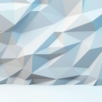 Fototapete Abstrakter grauer Hintergrund mit polygonalen Muster. 3d bild