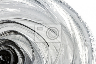 Fototapete Abstrakter handgemalter Schwarzweiss-Hintergrund