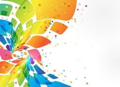 Fototapete Abstrakter Hintergrund, buntes Element auf weißem Hintergrund