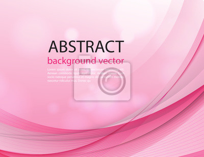 Abstrakter Lichtvektor rosa Wellenhintergrund. Vektorillustration