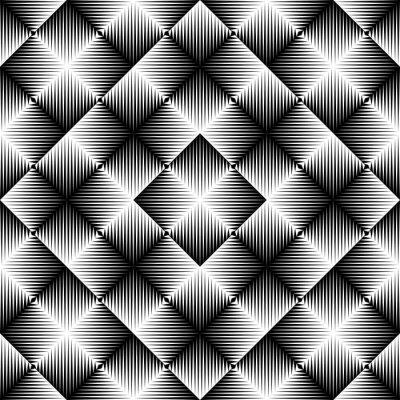 Fototapete Abstrakter quadratischer Hintergrund. Nahtloses geometrisches Muster