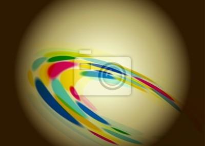 Fototapete Abstrakter Retro-Hintergrund mit einem farbigen Kreise dreh
