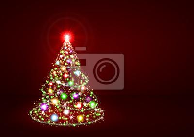 Weihnachtsbaum Rot.Fototapete Abstrakter Weihnachtsbaum Rot Bunt Weihnachten Baum Weihnachten