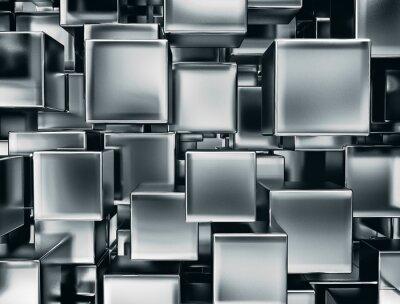Fototapete abstraktes Bild von Metall-Würfel Hintergrund