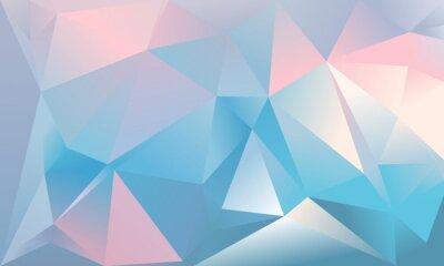 Fototapete Abstraktes Dreieck Hintergrund. Hellblau, rosa und weiß.