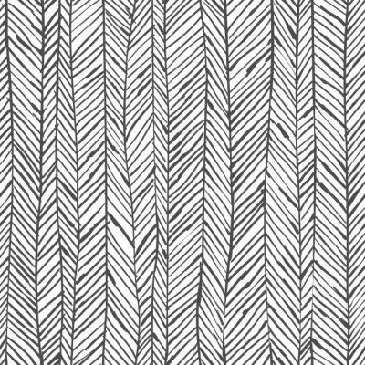 Abstraktes Fischgrätmuster Nahtlose Muster Tapete In Schwarz Weiß