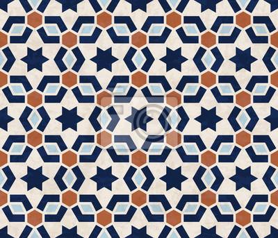 Abstraktes Geometrisches Muster Marmorierte Sterne Und Sechseckige - Marmorierte fliesen