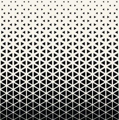 Fototapete Abstraktes geometrisches Schwarzweiss-Grafikdesigndruck-Halbtondreieckmuster