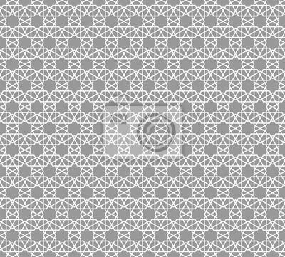 8c93c9fb89e1bd Fototapete Abstraktes graues Muster geometrisch von islamischer