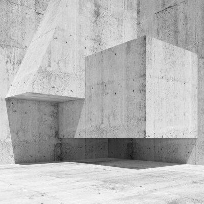 Fototapete Abstraktes weißes konkretes Inneres Fragment 3 d