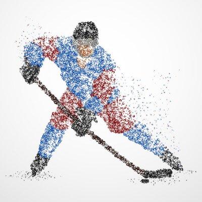 Fototapete Abstraktion, hockey, eis, kobold