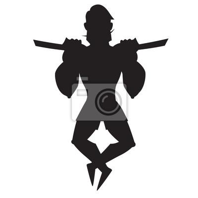 Abziehen Übung. Mann an der Platte angezogen. Stilvolle Mann in Shorts. Isolierte Vektor-Illustration auf weißem Hintergrund.