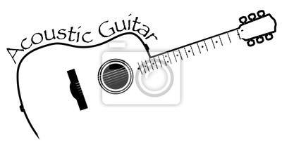 Acoustic Guitar Copy Space
