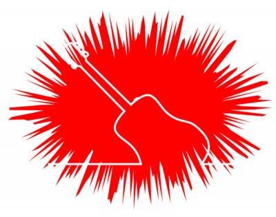 Acoustic Guitar line Drawing Bang