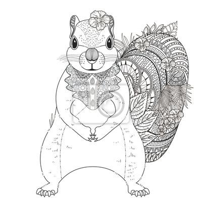 Adorable Eichhörnchen Malvorlage Fototapete Fototapeten Schöne