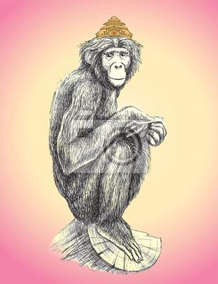 Affe in der Krone.