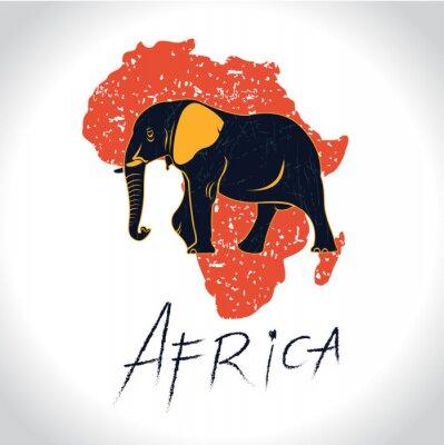 Fototapete Afrika und Safari mit dem Elefantenlogo 2