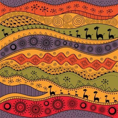 Ethno Muster afrikanischen handgezeichneten ethno-muster, stammes-hintergrund