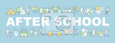 Fototapete After school activities word concepts banner