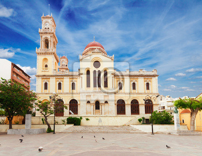 Fototapete Agios Minas church, Heraklion, Greece
