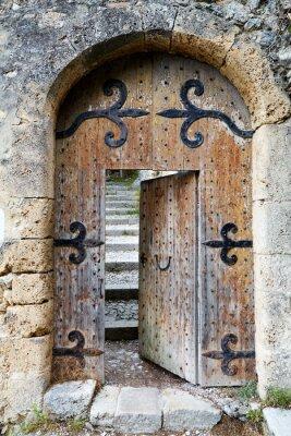 Fototapete Ajar old wooden door