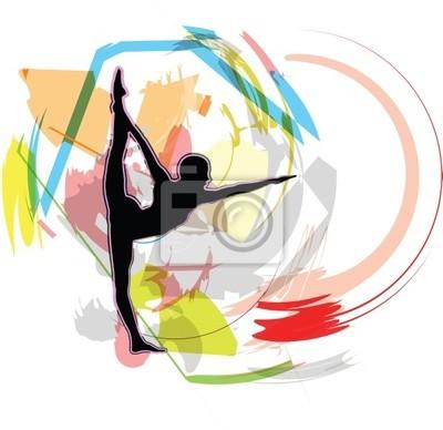 Akrobatische Mädchen