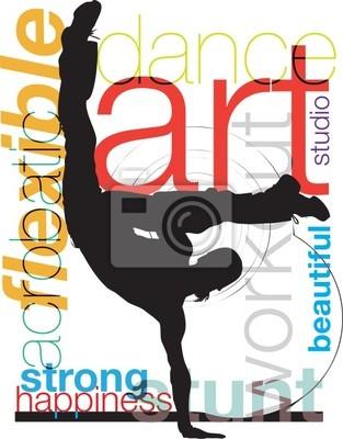Akrobatische man illustration