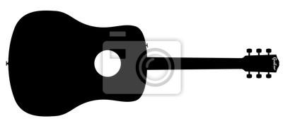 Akustische Gitarre Silhouette