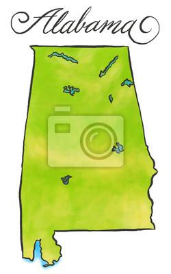 Alabama Karte
