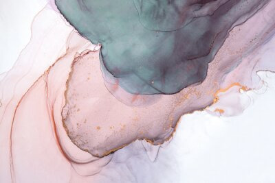 Fototapete Alcohol ink sea texture. Contemporary art. Abstract art background. Multicolored bright texture. Fragment of artwork. Modern art. Inspired by the sky, as well as steam and smoke. Trendy wallpaper.