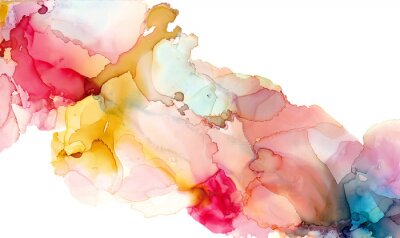 Fototapete Alcohol ink texture. Fluid ink abstract background. art for design