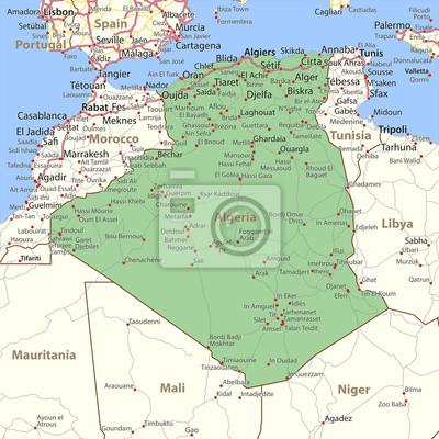 Algeria-world-countries-vectormap-a fototapete • fototapeten ...