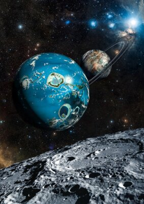 Fototapete Alien Exo Planet. Elemente dieses Bildes von der NASA eingerichtet