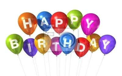 Alles Gute Zum Geburtstag Ballons Fototapete Fototapeten Alles