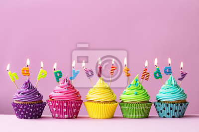 Alles Gute Zum Geburtstag Cupcakes Fototapete Fototapeten