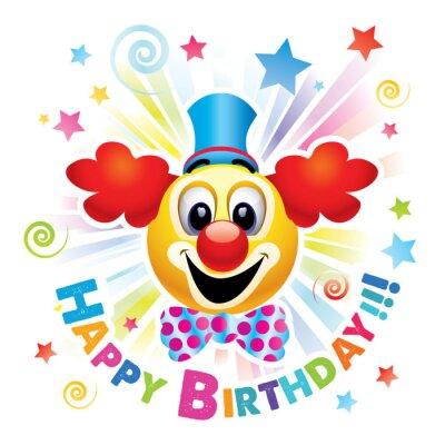 Alles Gute Zum Geburtstag Grusskarte Smiley Ball Als Clown Feiern