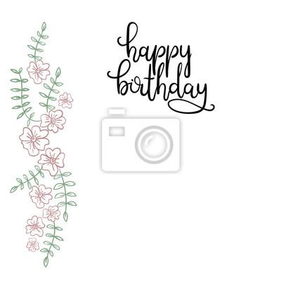 Alles Gute Zum Geburtstag Hand Lettering Grusskarte Moderne