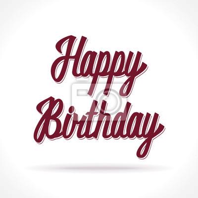 Alles Gute zum Geburtstag Hand Schriftzug. Vektor
