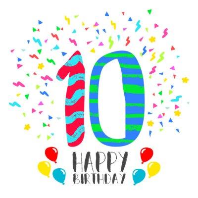 Alles Gute Zum Geburtstag Karte Fur 10 Jahre Kinder Spass Partei