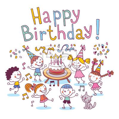Alles Gute Zum Geburtstag Kinder Fototapete Fototapeten