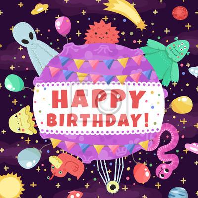 Lustige Kinder Geburtstagskarte Mit Kleinem Bar Und