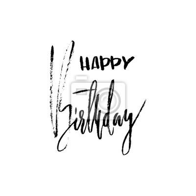 Alles Gute Zum Geburtstag Moderne Pinsel Schriftzug Für