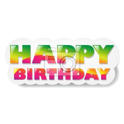 Alles Gute zum Geburtstag Wolke