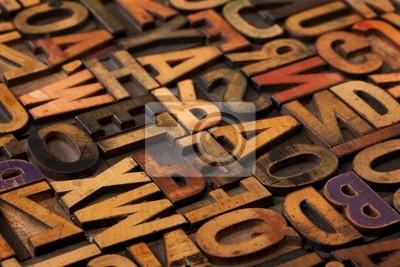 Alphabet Abstract im Vintage Druckstöcke