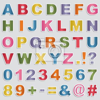 Alphabet-Aufkleber