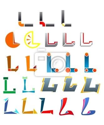 Alphabet Buchstabe L